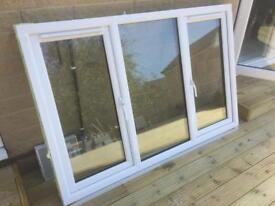 Large white double glazed window frame and sill