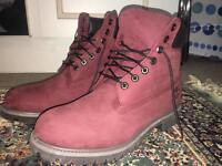 Timberland Boots BRAND NEW/BOXED - Red/Burgundy - Size UK 9.5