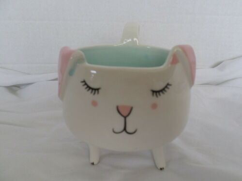 Arlington Designs Pink & Blue Kitty Cat with Legs Coffee Mug Cup 8 oz