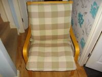 IKEA WOODEN CHAIR WITH CUSHION VERY GOOD CONDITION BARGAIN £25 BARGAIN BARGAIN £25