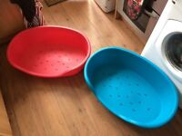 Dog Beds x2 Medium Size Red and Blue - unused