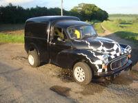 Morris minor van with v8 engine hot rod