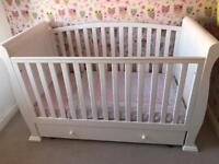 Gorgeous Sleigh Cot/ Cotbed