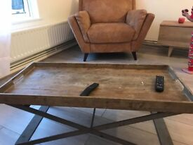 Real wood tray Bon coffee table from Loaf bought in July