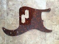 Tortoiseshell pickguard for Fender Precision bass guitar
