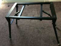 Sturdy metal foldable electric piano stand