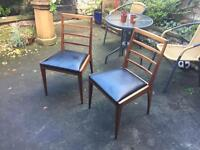 4x Original 1950's Vintage Solid Wood G Plan style chairs