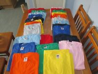 36 Brand New Childrens Short Sleave Fruit Of The Loom T Shirts