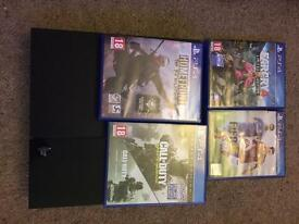 PlayStation 4 500g with 4 games