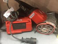 Hilti DG-150 with Hilti DPC 20 diamond grinder.