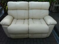 2 SEATER TWIN RECLINING LEATHER SOFA