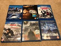 6 Blu-Ray Films (inc Rise of The Planet of The Apes and Mission Impossible Ghost Protocol)