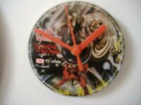 IRON MAIDEN NUMBER OF THE BEAST CD CLOCK RARE, BUY THIS GET ANOTHER CLOCK FOC