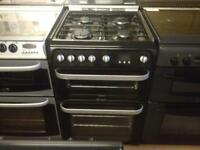 Hotpoint Black 60cm gas cooker