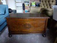 "Antique/Steampunk/Hipster Chest/blanket box (w36"" x d17"" x h 20"")"