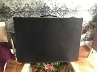 Gold line zipped portfolio presentation case with ring binder