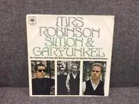 "Rare vintage retro Mrs Robinson Simon and Garfunkel 7"" record vinyl SDHC"