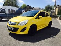 2015 Vauxhall corsa 1.2 ltd edition yellow Fvsh new alloys & tyres px welcome anytrialpriced to sell