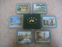 selection of coasters 3 sets + tray