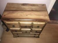 Real oak 3 piece furniture set