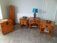 Lovely solid wood range of lounge furniture 5 pieces in total