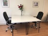 Two desks for rent in shared, bright office in central Brixton