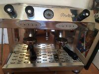 FRACINO 2 GROUP ESPRESSO COFFEE MACHINE + GRINDER!!