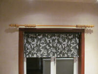 2 Pine Curtain Rails