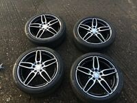 Genuine mercedes amg alloys 18 inch only covered 12 miles fit A,B,C,CLA class inc shootingbrake
