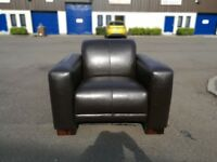 Brown Bonded Club Chair - Brand New - 1 Left - 50.00
