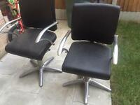 Leather Reclining hydraulic barber/salon chair