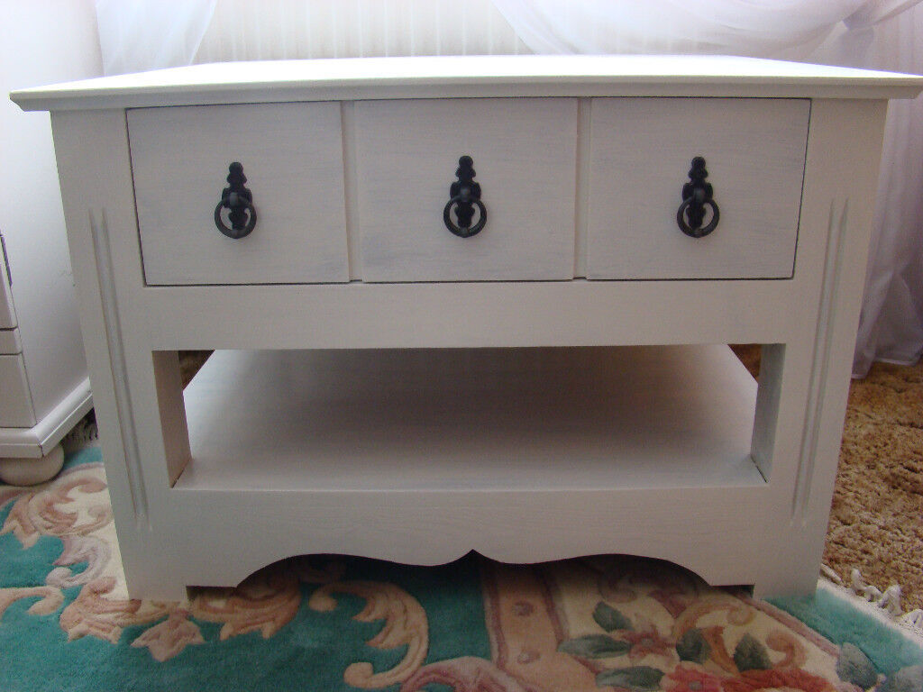 Rustic Shabby Chic CoffeeTea table Chest Of Drawers Storage Cabinet Sideboard.