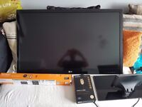 lg 47lw450u 3d tv with new unopened wall bracket and premium hdmi cable