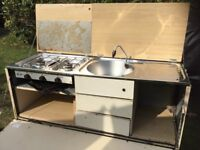 Camping kitchen suitable camper / horsebox conversion.