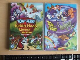TWO CHILDREN'S DVDs – TOM & GERRY MOVIES – see description