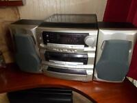 Record player/cd/cassette/radio
