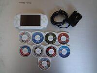 Sony PSP-1003 white + 1 GB + 7 games + 2 movies