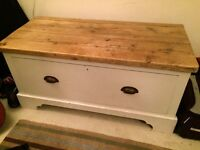 Lovely wooden trunk with large drawer