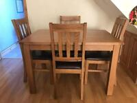 Oak Dinning Table With 4 Chairs TV Stand And Side Board