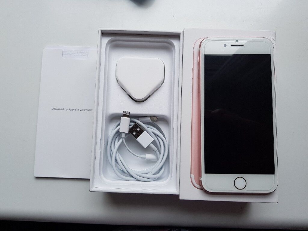 Apple iPhone 7 - 32GB - Rose (Unlocked) [Used] in good condition.