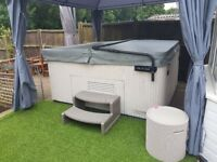 hot tub beachcomber 5 person full working order new cover lifter steps