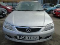 MAZDA 323 1.6 GXI 5d 97 BHP PX TO CLEAR BARGAIN GOOD CLEAN CAR (silver) 2003