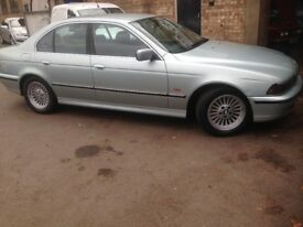 Breaking BMW E39 523i 2.5 automatic silver/green sedan, for parts, postage available tm