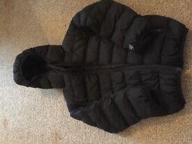 Next Black Padded Coat Age 4