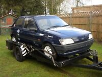 Single axle car transporter trailer, Used to carry my kitcar & Trials car,