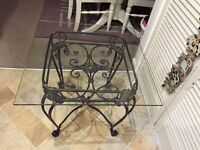 Wrought Iron & Glass Coffee & Lamp Tables