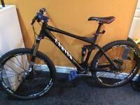 Canyon nerve full-suspension mountain bike