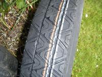 115/90/r16 continental tyre brand new unused, on new steel 16 inch space saver 5 stud steel wheel