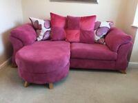 DFS pink sofa
