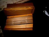 4 sets of wooden blinds